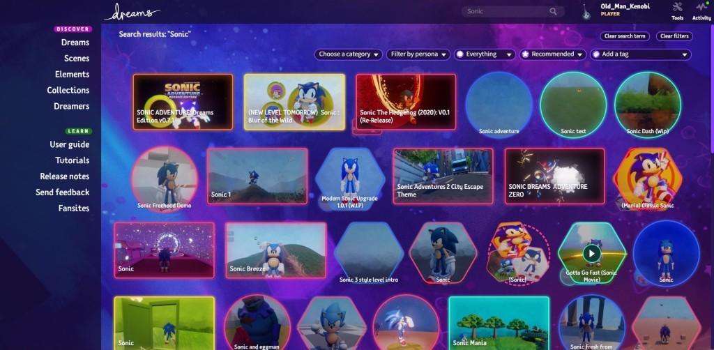 Dreams Sonic